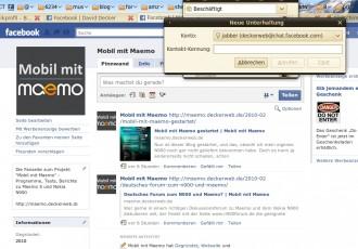 Beispiel: facebook Chat mit Empathy unter Ubuntu Karmic