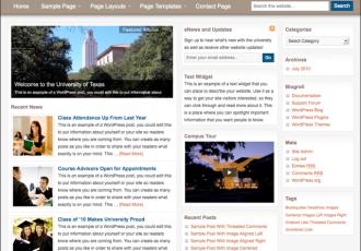 Bildschirmfoto des Education Theme für Genesis von StudioPress