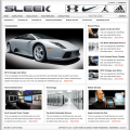 Bildschirmfoto des Sleek Theme für Genesis von StudioPress - heller Stil