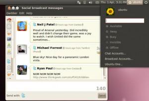 Soziale Netzwerke wie Twitter oder facebook sind bereits nativ in Ubuntu integriert