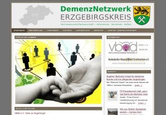 DemenzNetzwerk Erzgebirgskreis -- Bildschirmfoto: demenznetzwerk-erzgebirgskreis.de