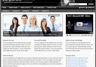 Bildschirmfoto des Corporate 1.1 Theme für Genesis von StudioPress