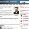 Bildschirmfoto: Webseite des CDU-Kreisverbandes Erzgebirge
