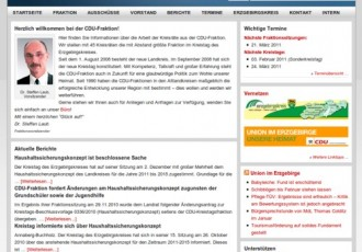 Seite der CDU-Fraktion Erzgebirgskreis überarbeitet