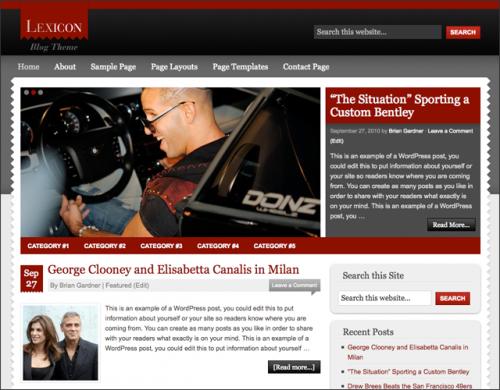 Bildschirmfoto des Lexicon Theme für Genesis von StudioPress