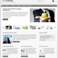 Bildschirmfoto des Sleek Theme für Genesis von StudioPress - hier mit grauer Farbvariante (Standard)