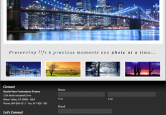 Bildschirmfoto des Manhattan Theme für Genesis von StudioPress