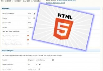 Neu in Version 1.1 - Xtreme One Framework mit HTML5-Option
