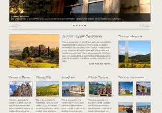 Bildschirmfoto des Tuscany Theme für Xtreme One Framework