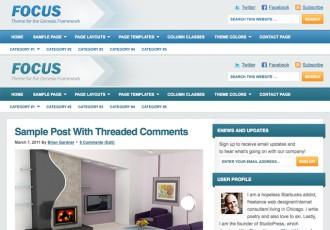 Bildschirmfoto des Focus Theme für Genesis von StudioPress