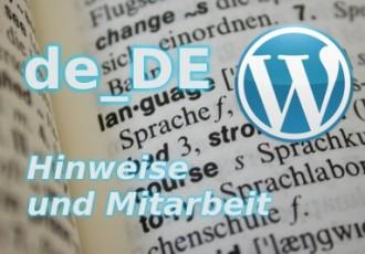 Sprachdateien für WordPress von DECKERWEB - Hinweise und Mitarbeit