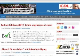 CDL Kreisverband Erzgebirge -- Bildschirmfoto: cdl-erzgebirge.de