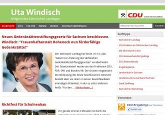 Uta Windisch MdL -- Bildschirmfoto: www.uta-windisch.de