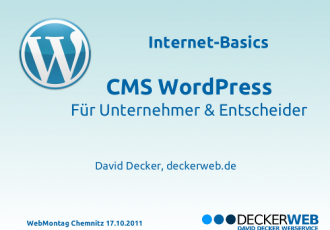 Internet-Basics beim 6. WebMontag in Chemnitz