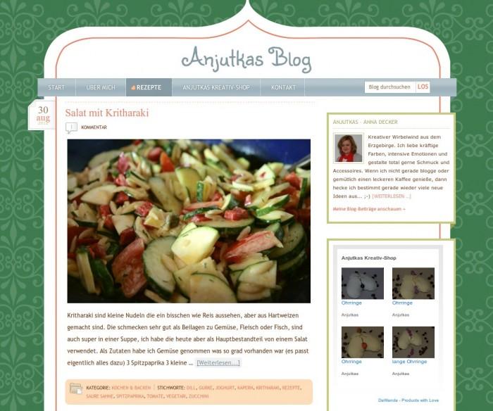 Anjutkas Blog -- Bildschirmfoto: anjutkas.de