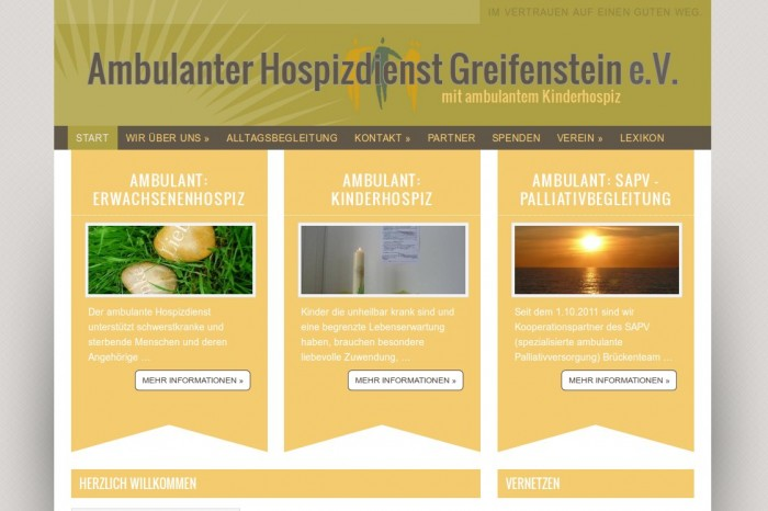 Ambulanter Hospizdienst Greifenstein e.V. -- Bildschirmfoto: hospizdienst-greifenstein.de