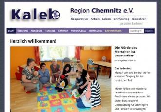 Kaleb Region Chemnitz e.V. -- Bildschirmfoto: www.kaleb-chemnitz.de