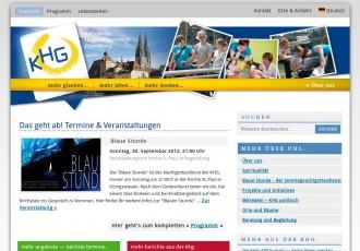 Katholische Studentengemeinde Regensburg -- Bildschirmfoto: khg-regensburg.de