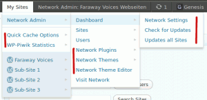 Multisite Toolbar Additions im Network-Adminbereich