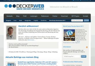 DECKERWEB.de, Version 2010 -- Bildschirmfoto: deckerweb.de