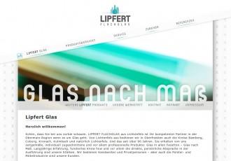 Lipfert Flachglas - Glas nach Maß -- Bildschirmfoto: www.lipfert-flachglas.de
