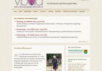Verein zur Betreuung Angehöriger Demenzkranker e.V. (VBAD) -- Bildschirmfoto: vbad.de