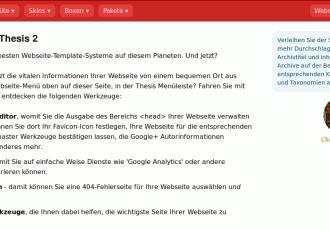 Thesis 2.0 Deutsche Sprachdatei in SIE und DU