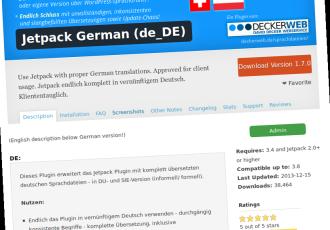 Mein Jetpack Sprach-Plugin bei WordPress.org