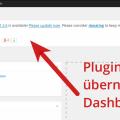 Übernimmt hier das kleine Widget-Plugin gleich das Dashboard?