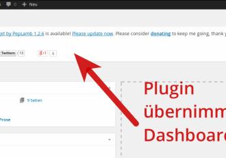 Plugin übernimmt Admin-Dashboard? – Nein, Danke!