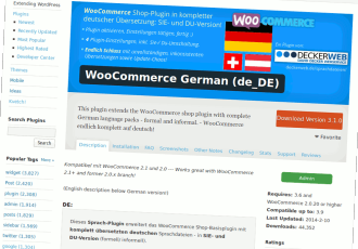 WooCommerce Deutsch (de_DE) – mein Sprach-Plugin nun endlich in Version 3.1.0!