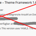 Xtreme One Framework - keine Verlängerung bei mir