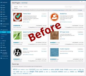 So wurde es mit WordPress 4.0: Der Plugin-Installer - Doch dabei muss es nicht bleiben ...